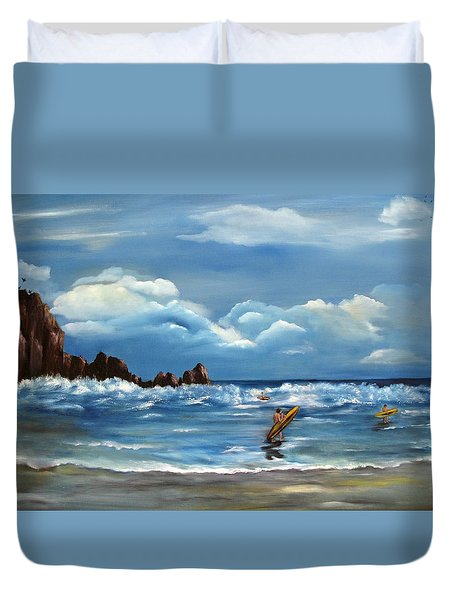 Last Ride Duvet Cover by Carol Sweetwood