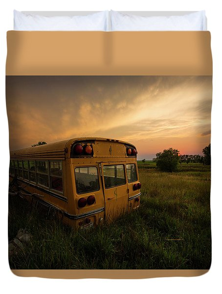Duvet Cover featuring the photograph Last Stop  by Aaron J Groen
