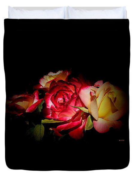 Duvet Cover featuring the photograph Last Summer Roses by Gabriella Weninger - David