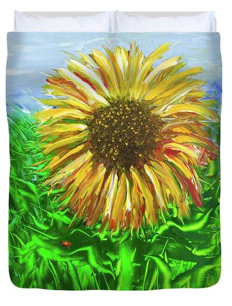 Last Sunflower Duvet Cover