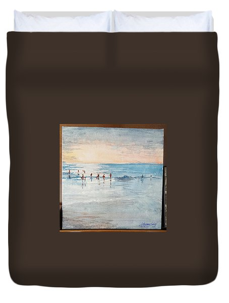 Last Swim Duvet Cover