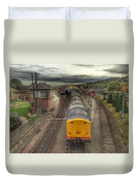Last Train To Manuel Duvet Cover