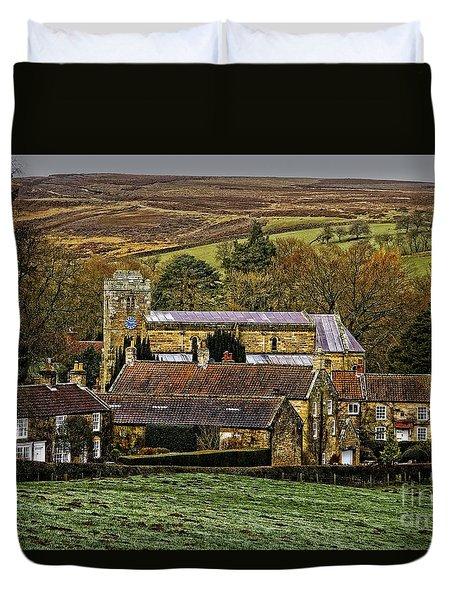 Lastingham Church And Village Yorkshire Duvet Cover