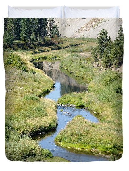 Duvet Cover featuring the photograph Latah Creek by Ben Upham III
