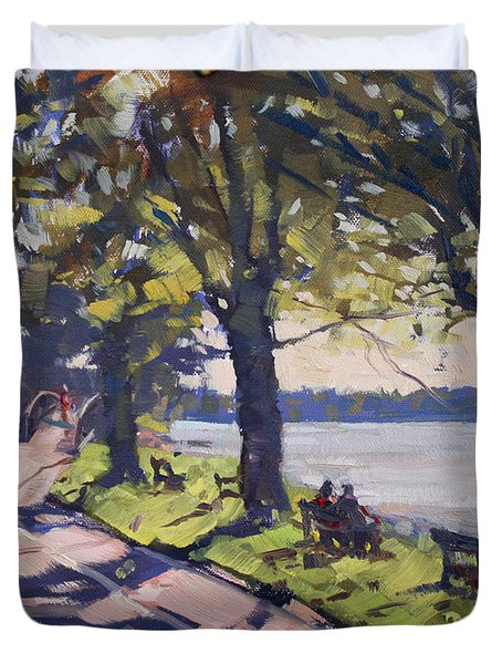 Late Afternoon At Niawanda Park Duvet Cover