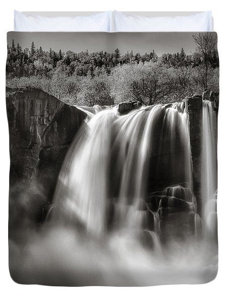 Late Afternoon At The High Falls Duvet Cover