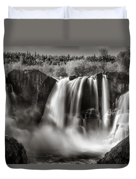 Late Afternoon At The High Falls Duvet Cover by Rikk Flohr
