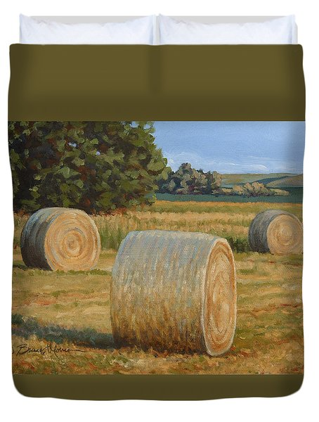 Late Afternoon Bales - Plein Air Duvet Cover