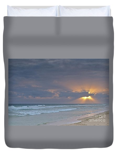 Late Afternoon In Ilha Deserta. Algarve Duvet Cover