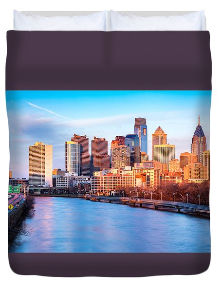 Late Afternoon In Philadelphia Duvet Cover