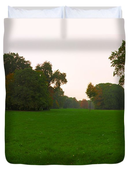 Late Afternoon In The Park Duvet Cover