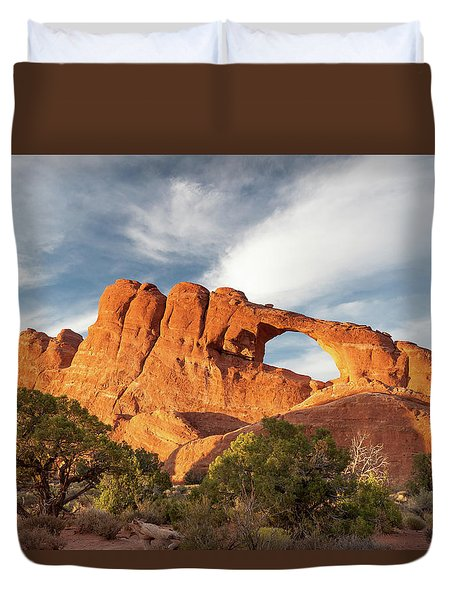 Late Afternoon Light On Skyline Arch Duvet Cover