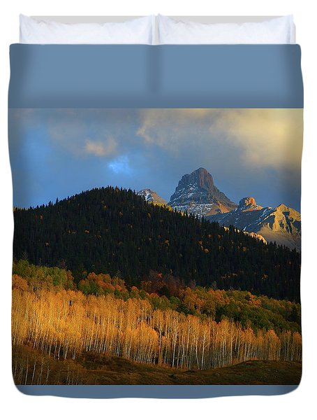 Late Afternoon Light On The San Juans Duvet Cover by Jetson Nguyen