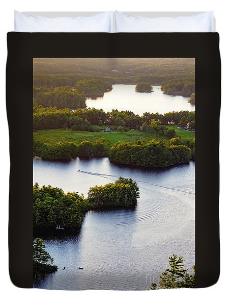 Late Afternoon On Lake Megunticook, Camden, Maine -43988 Duvet Cover