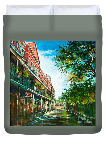 Late Afternoon On The Square Duvet Cover