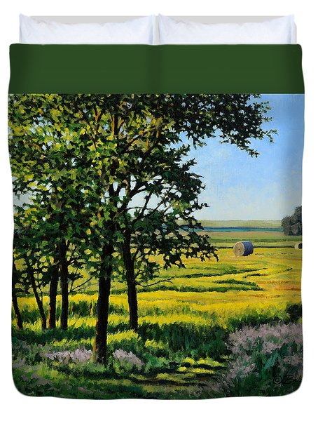 Late Afternoon Pasture Duvet Cover