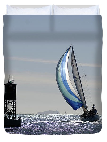 Late Afternoon Sail Duvet Cover