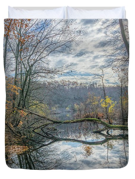 Late Autumn Reflections Duvet Cover