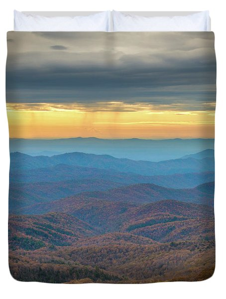 Late Autumn Vista Duvet Cover
