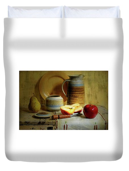 Duvet Cover featuring the photograph Late Day Break by Diana Angstadt