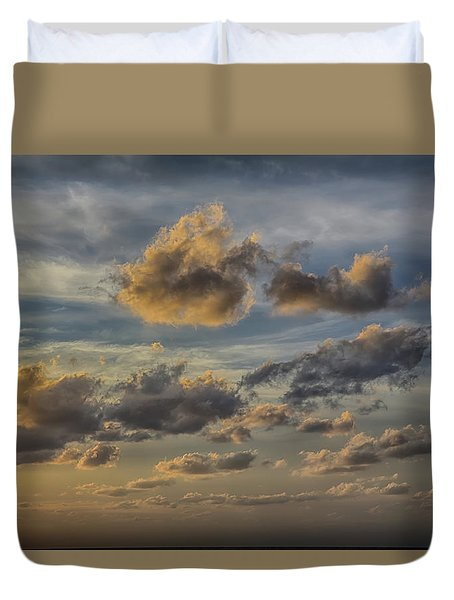 Duvet Cover featuring the photograph Late Day Clouds On The Prisendam by John Haldane