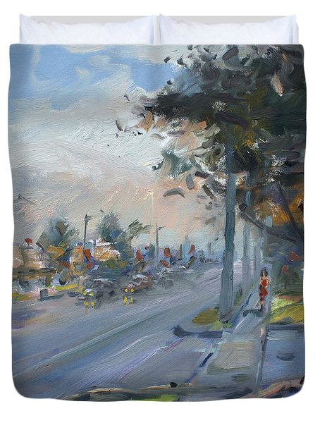 Late Evening In Guelph Street Georgetown Duvet Cover