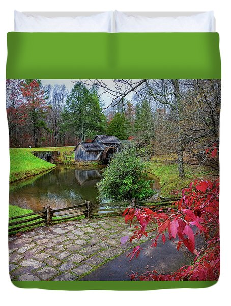 Late Fall At Mabry Mill Duvet Cover