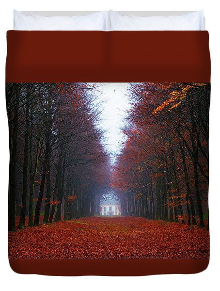 Late Fall Forest Duvet Cover