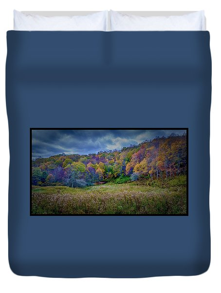Late Fall On Green Knob Trail Duvet Cover