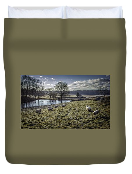 Late Fall Pastoral Duvet Cover