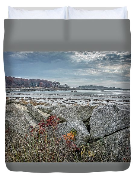 Late Fall Ride Duvet Cover