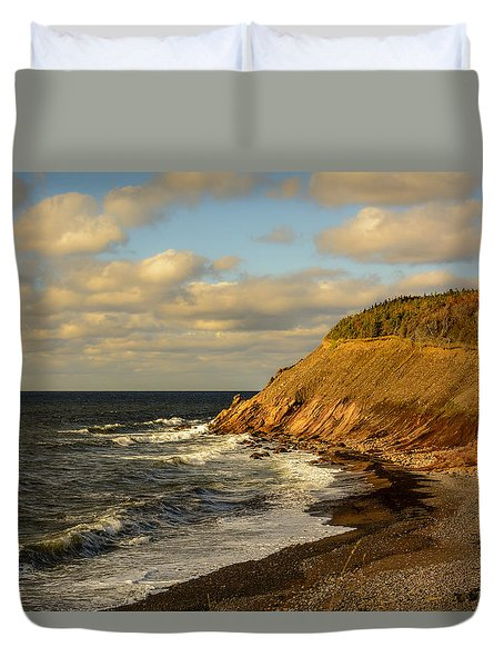 Late In The Day In Cheticamp Duvet Cover