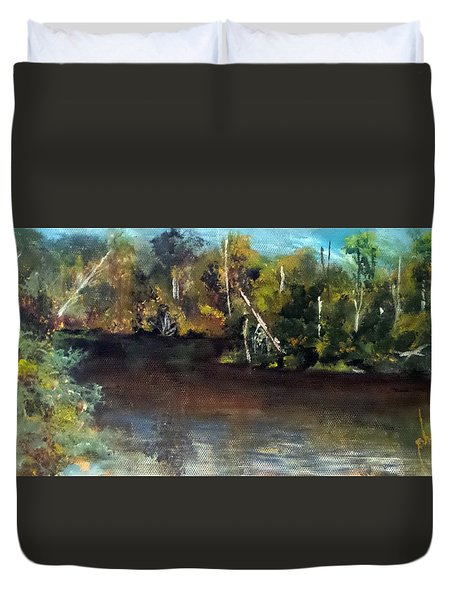 late in the Day on Blue Creek Duvet Cover