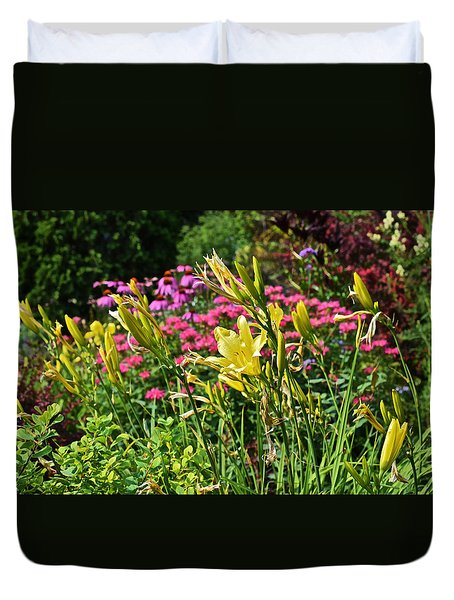 Late July Garden 1 Duvet Cover