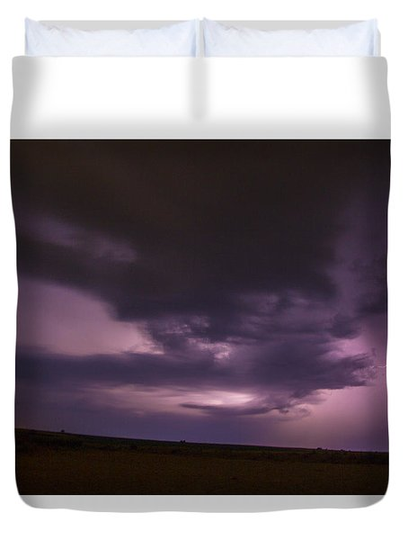 Late July Storm Chasing 028 Duvet Cover
