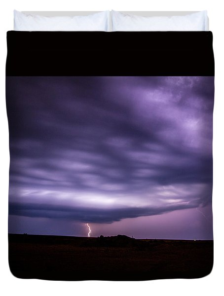 Late July Storm Chasing 033 Duvet Cover