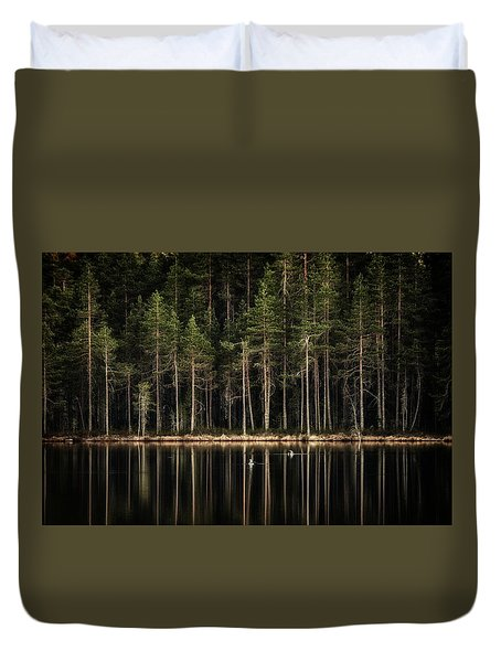 Late Loons Duvet Cover