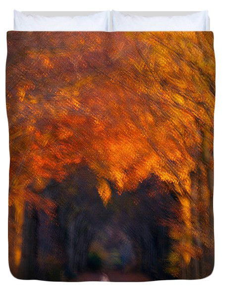 Late Nature Walk. Duvet Cover