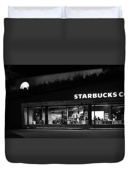 Duvet Cover featuring the photograph Late Night At The Bucs by David Lee Thompson