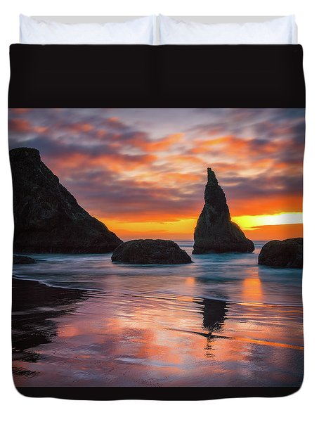 Duvet Cover featuring the photograph Late Night Cloud Dance by Darren White