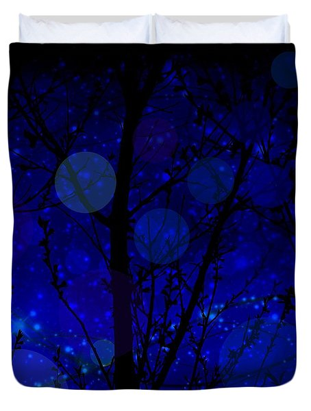Late Night Fairy Flight Duvet Cover