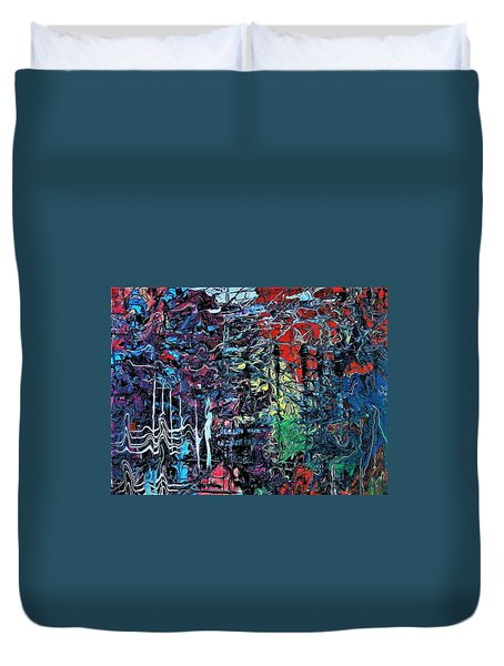 Late Night Reflections Duvet Cover
