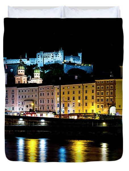 Late Night Stroll In Salzburg Duvet Cover