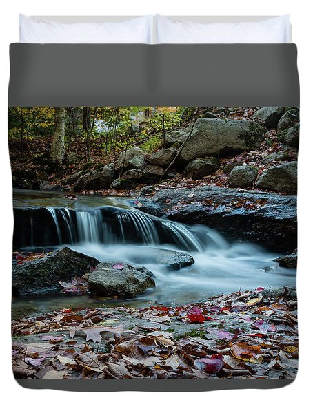 Late October Morning At Coxing Kill Duvet Cover