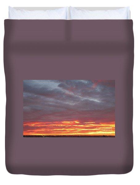 Late Prairie Sunrise Duvet Cover
