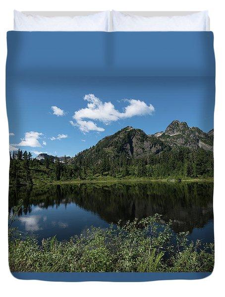 Late Spring Peaks Duvet Cover