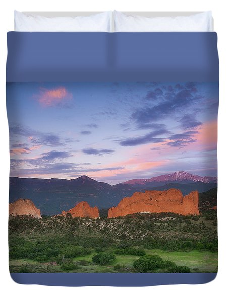 Duvet Cover featuring the photograph Late Spring Sunrise by Tim Reaves