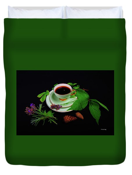 Late Summer Coffee Duvet Cover