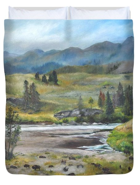 Late Summer In Yellowstone Duvet Cover