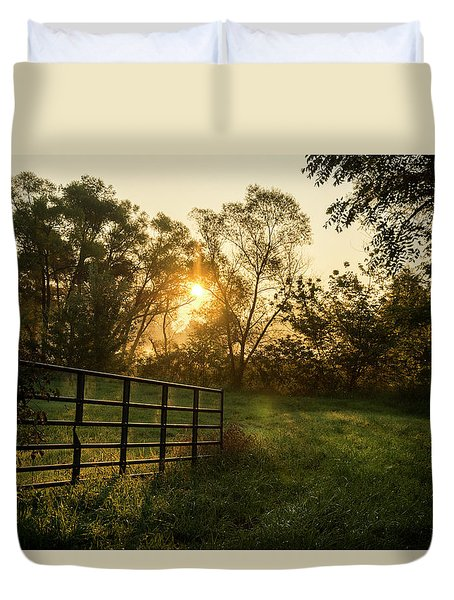 Late Summer Sunrise Duvet Cover